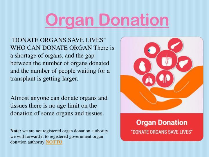 oral presentation on organ donation