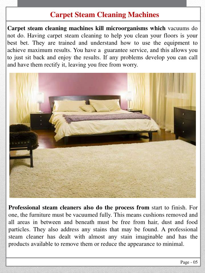 Carpet Steam Cleaning Machines