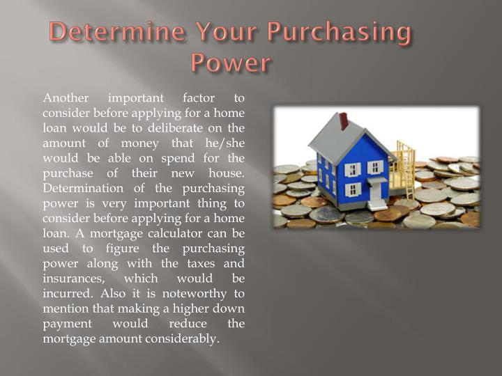 Determine Your Purchasing Power