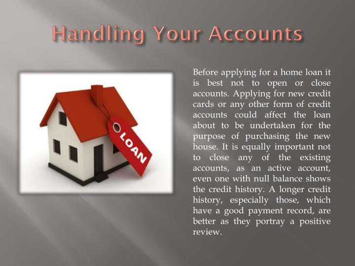 Handling Your Accounts