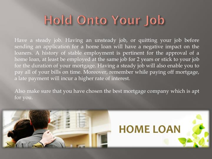 Hold Onto Your Job