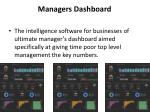 managers dashboard