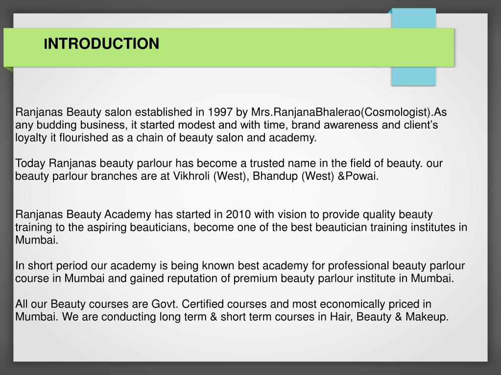 PPT - professional beauty parlour courses in mumbai PowerPoint