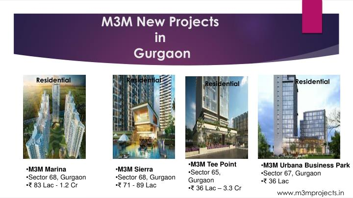 M3m new projects in gurgaon