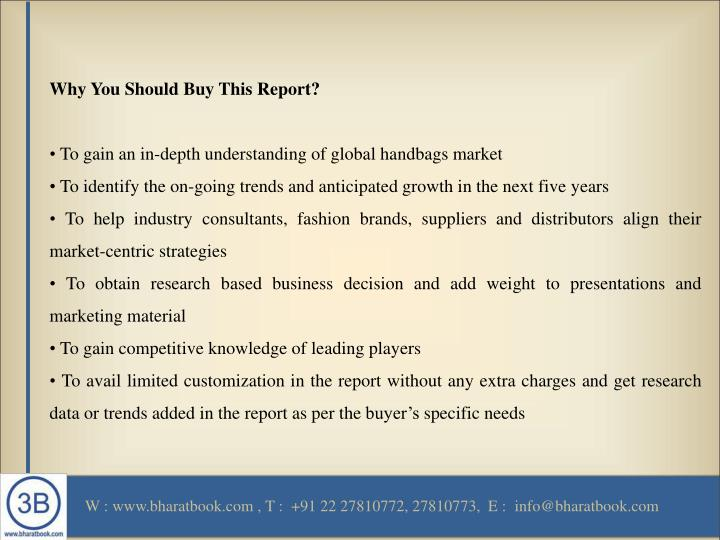 Why You Should Buy This Report?