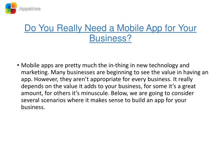 Do you really need a mobile app for your business