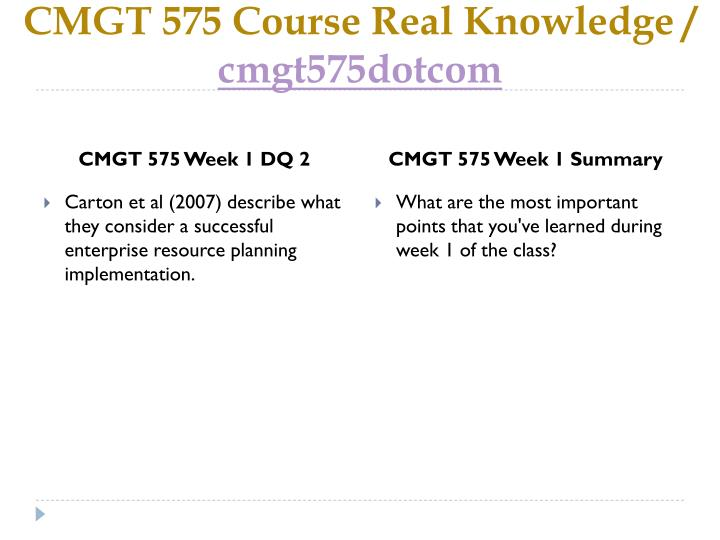 Cmgt 575 course real knowledge cmgt575dotcom2