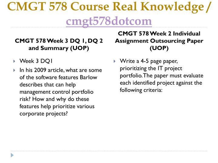 Cmgt 582 week 3 risk management