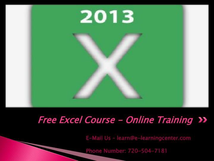 free online training for excel traffic school online