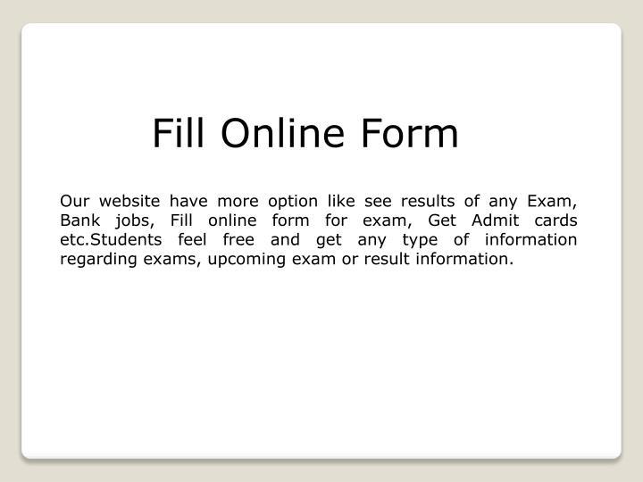 Fill Online Form