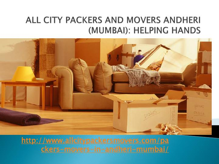 all city packers and movers andheri mumbai helping hands n.