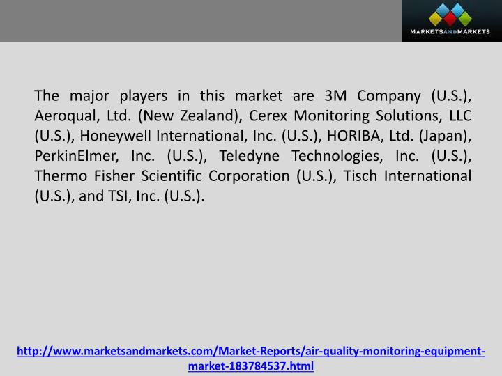 The major players in this market are 3M Company (U.S.),