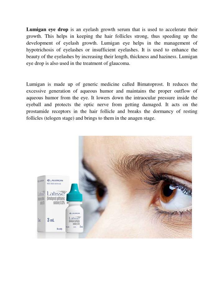 Ppt Buy Lumigan Eye Drops Online To Make Eyes Glaucoma Free