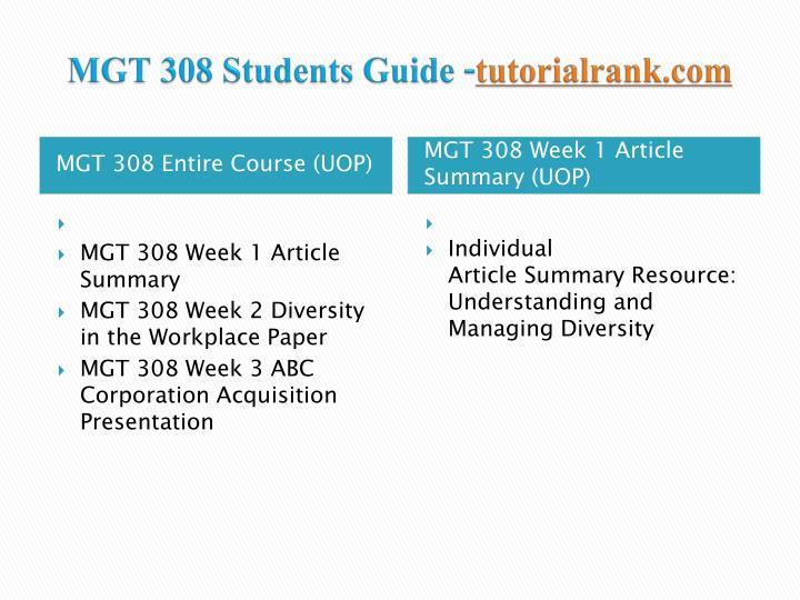 Mgt 308 students guide tutorialrank com1