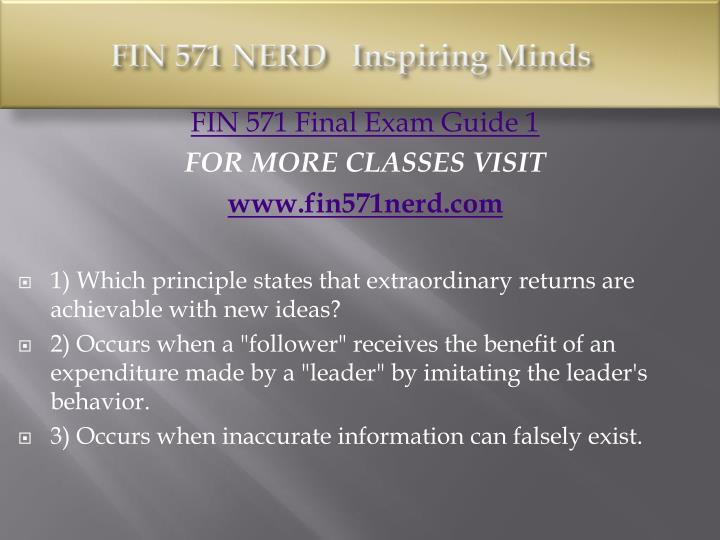FIN 571 NERD
