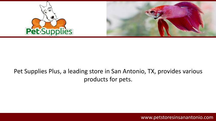 Pet Supplies Plus, a leading store in San Antonio, TX, provides various