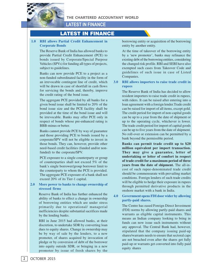 THE CHARTERED ACCOUNTANT WORLD