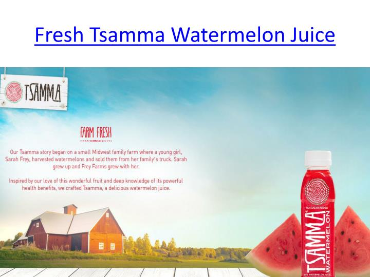 Fresh tsamma watermelon juice