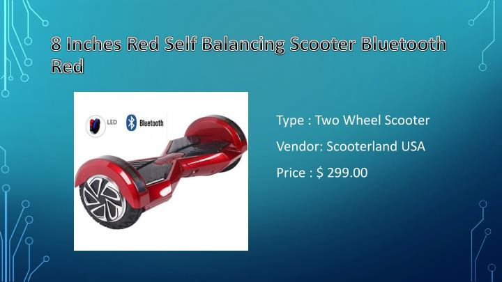8 Inches Red Self Balancing Scooter Bluetooth Red