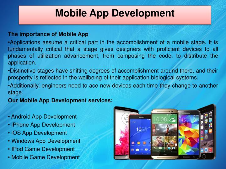 The importance of Mobile App