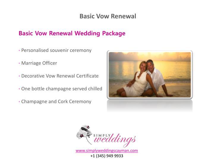 Basic Vow Renewal