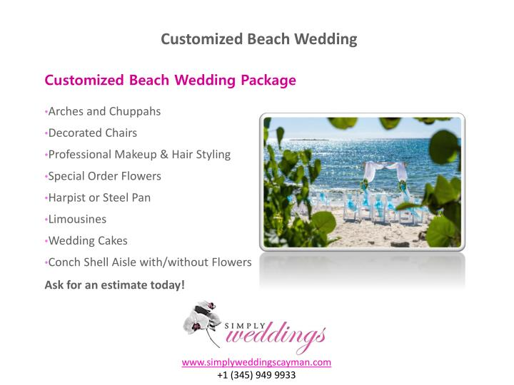 Customized Beach Wedding