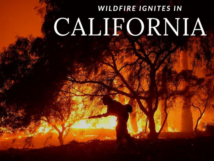 out of control fire lights in california n.