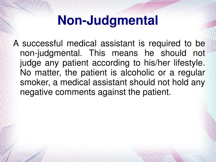 Non-Judgmental
