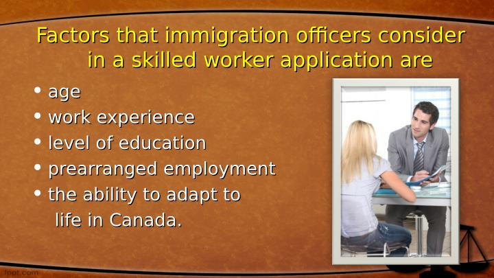 Factors that immigration officers consider
