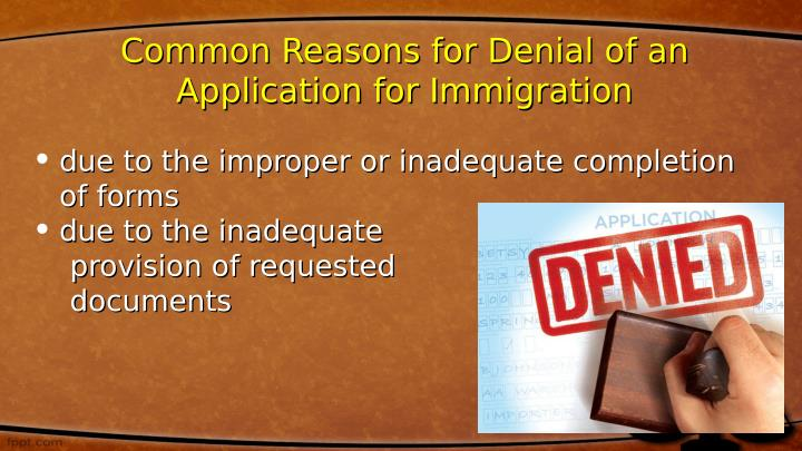 Common Reasons for Denial of an