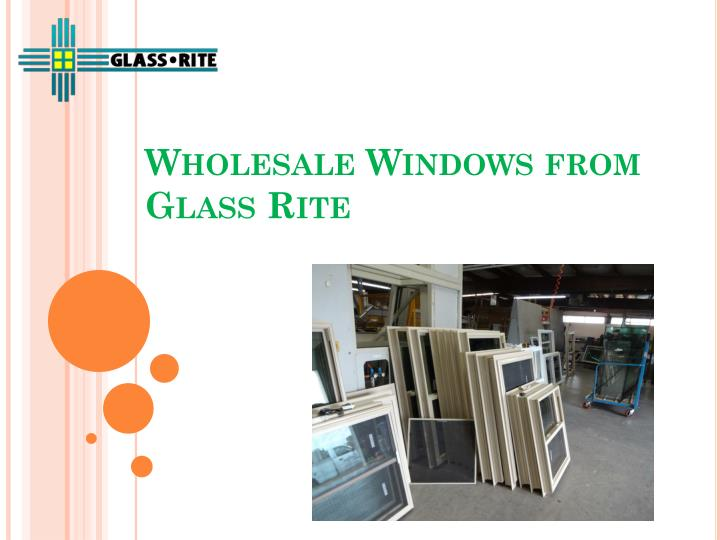 wholesale windows from glass rite n.