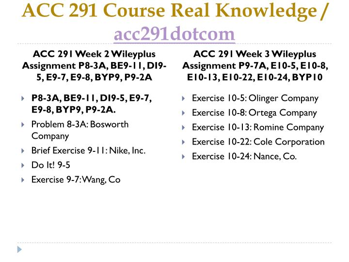 be9 13 acc291 answers