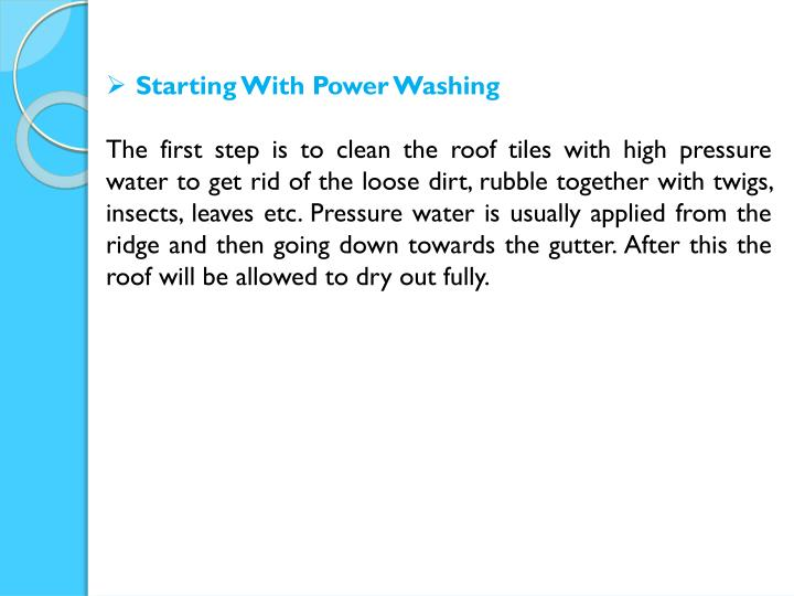 Starting With Power Washing