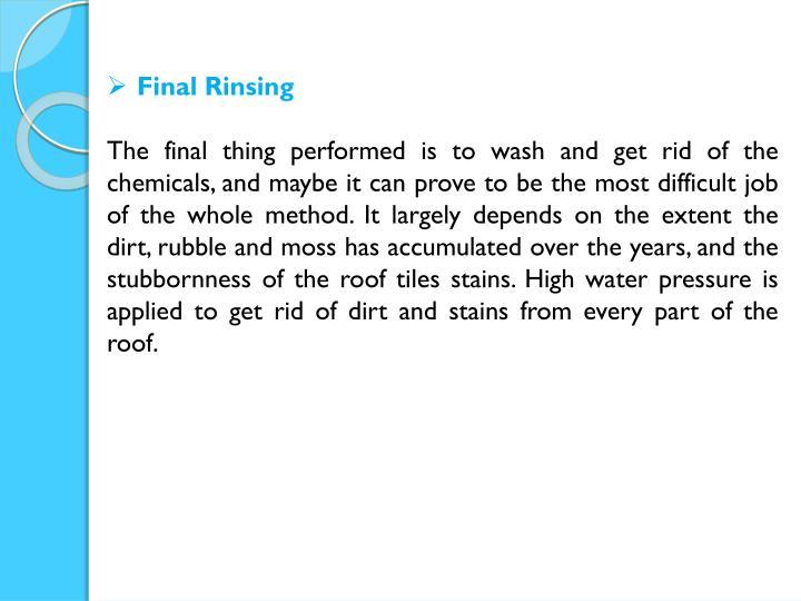 Final Rinsing