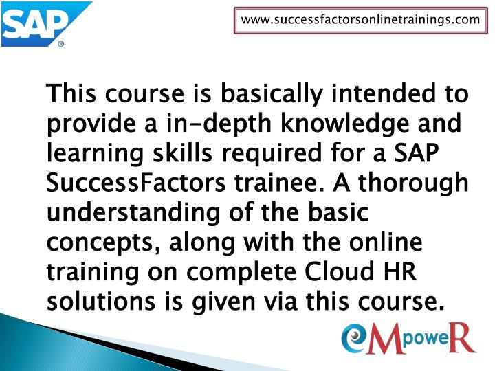 www.successfactorsonlinetrainings.com