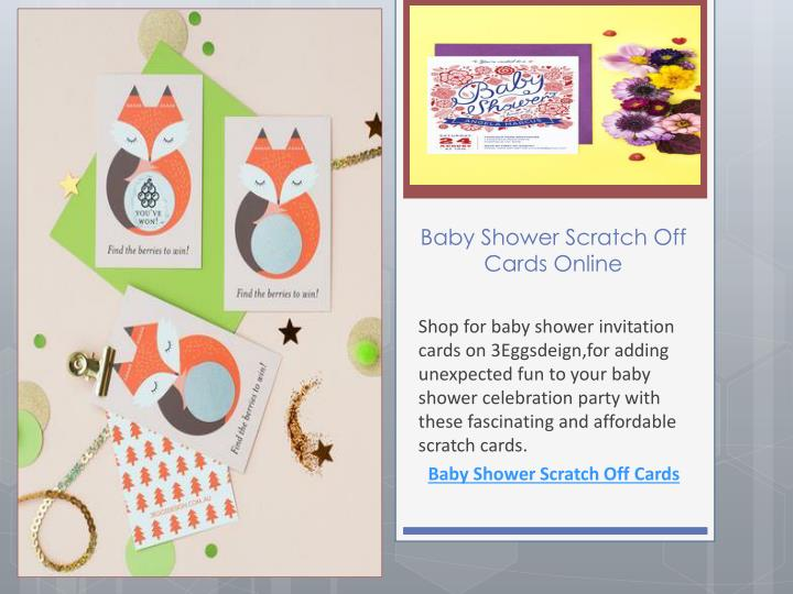 Ppt Baby Shower Scratch Off Cards Online Powerpoint