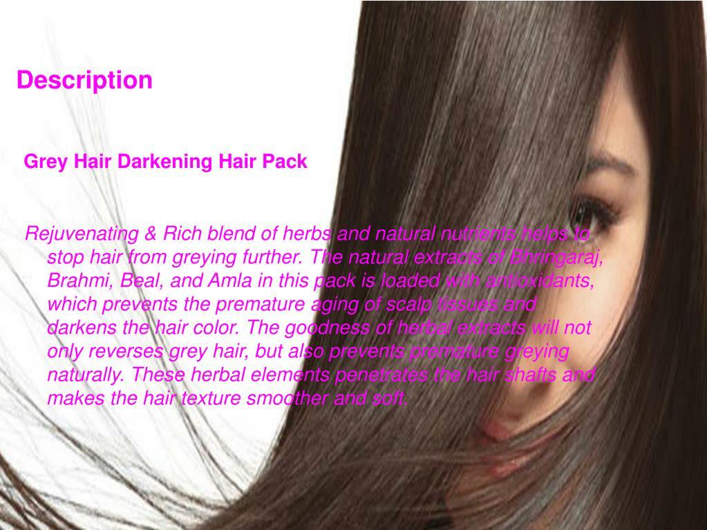 PPT - Buy Evescafe Grey Hair Darkening Hair Pack PowerPoint