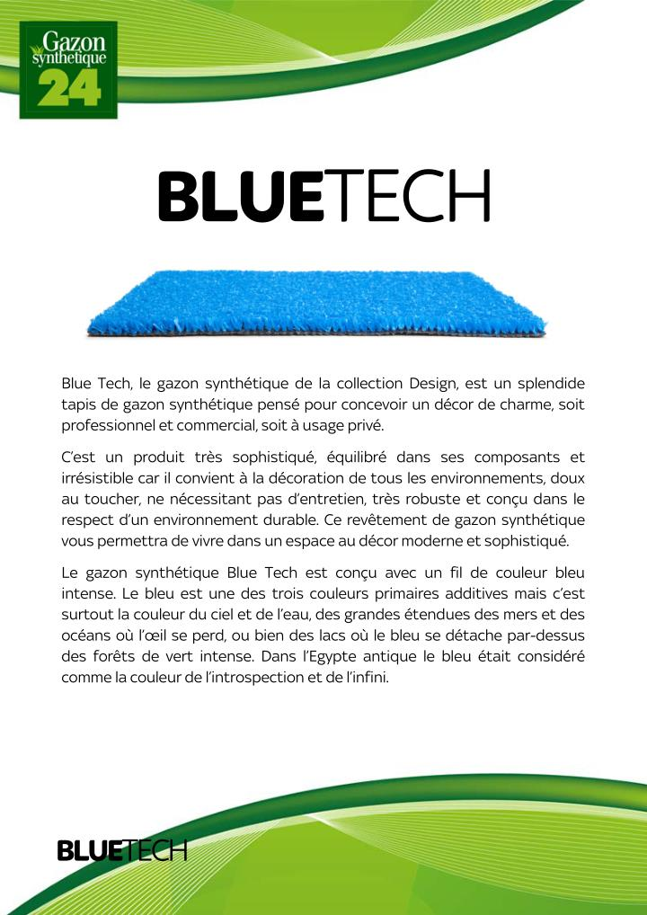 Ppt gazon synthetique blue tech powerpoint presentation Gazon synthetique solde