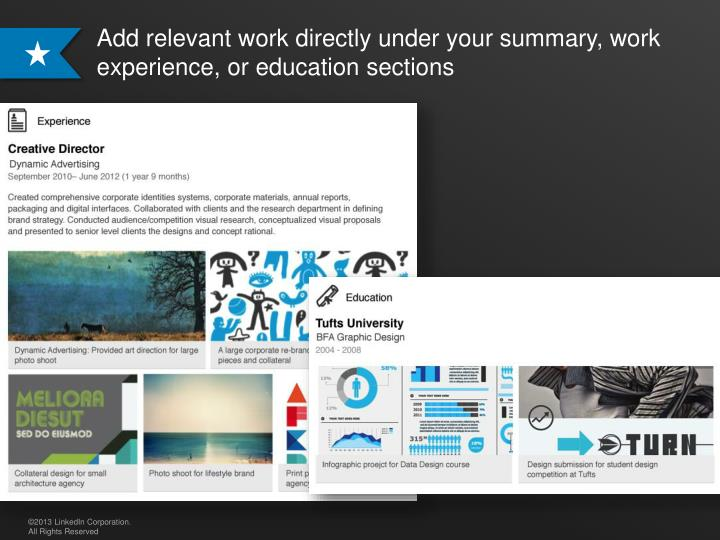 PPT Visually showcase your professional story