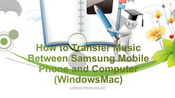 how to get music from a mac to a samsung