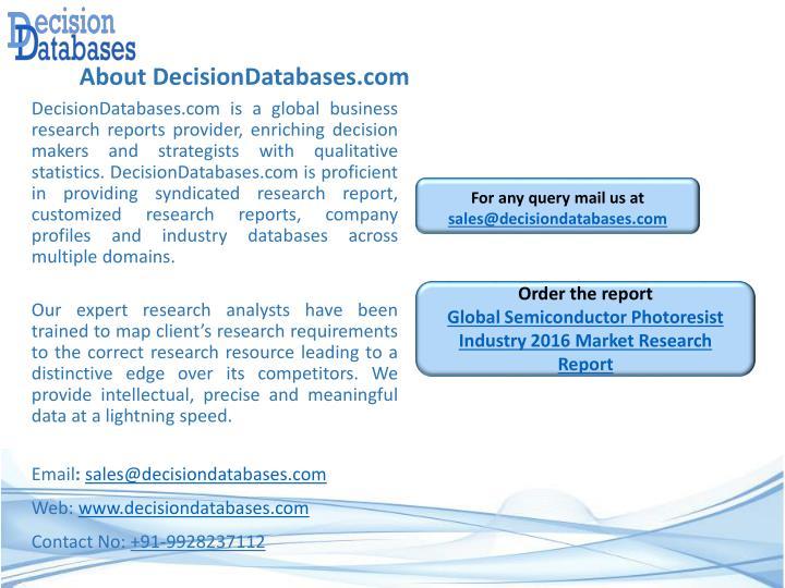 About DecisionDatabases.com