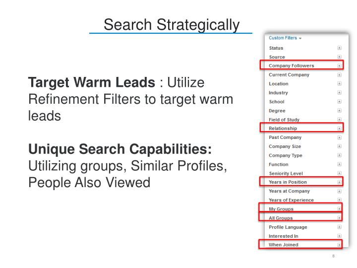 Search Strategically