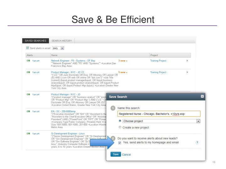 Save & Be Efficient