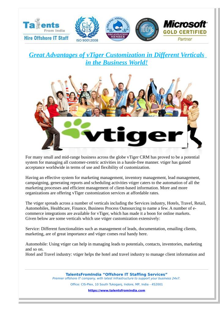 PPT - Great Advantages of vTiger Customization in Different