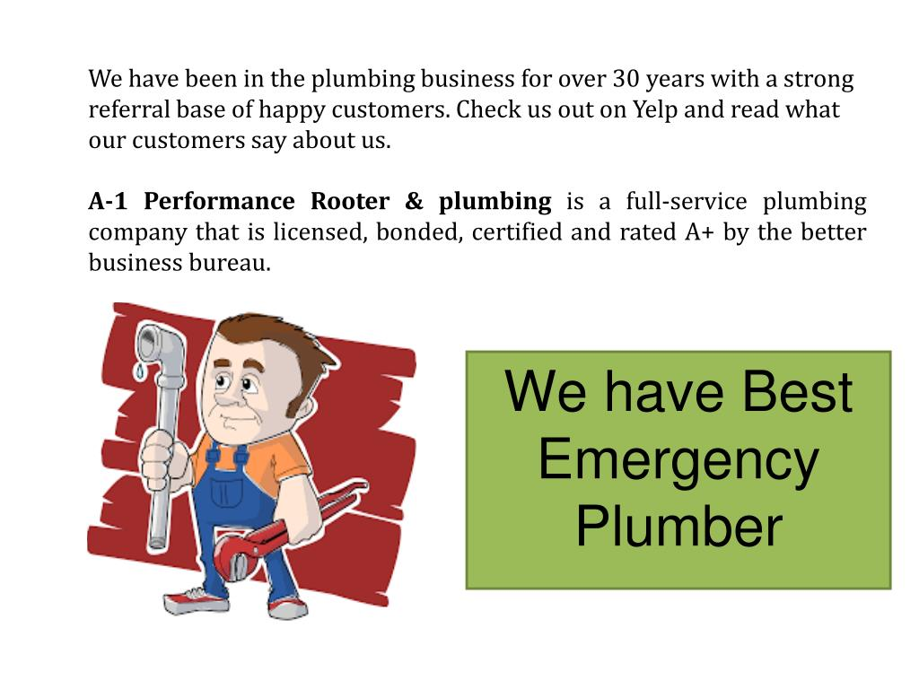PPT - A-1 Plumbers-Fast 24 Hour Emergency Plumbing Service ...
