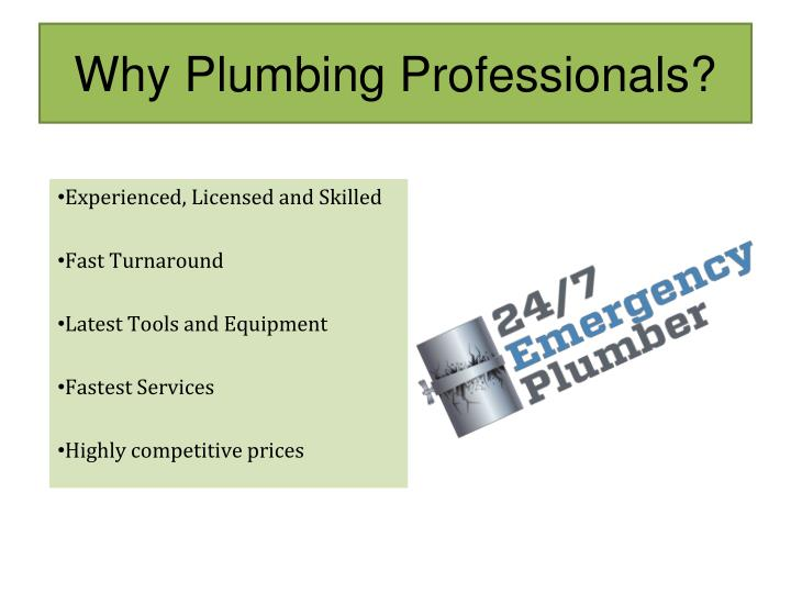 Why Plumbing Professionals?