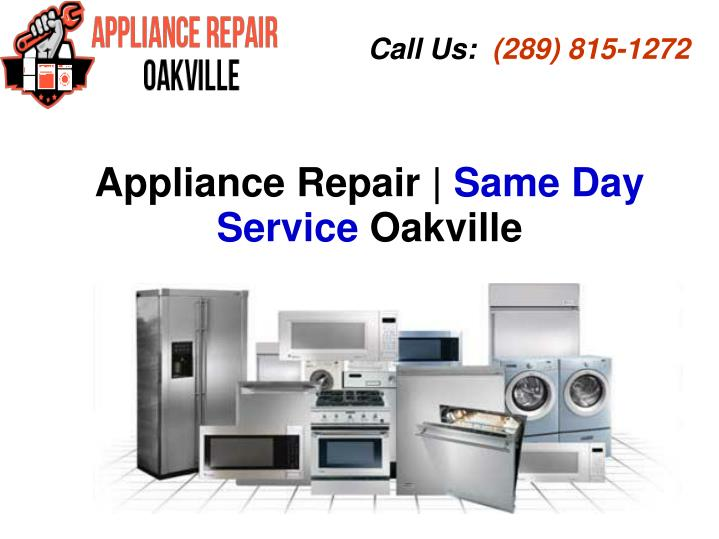 appliance repair same day service oakville n.