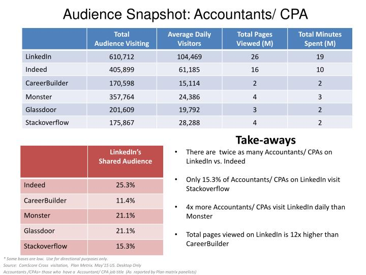 Audience Snapshot: Accountants/ CPA