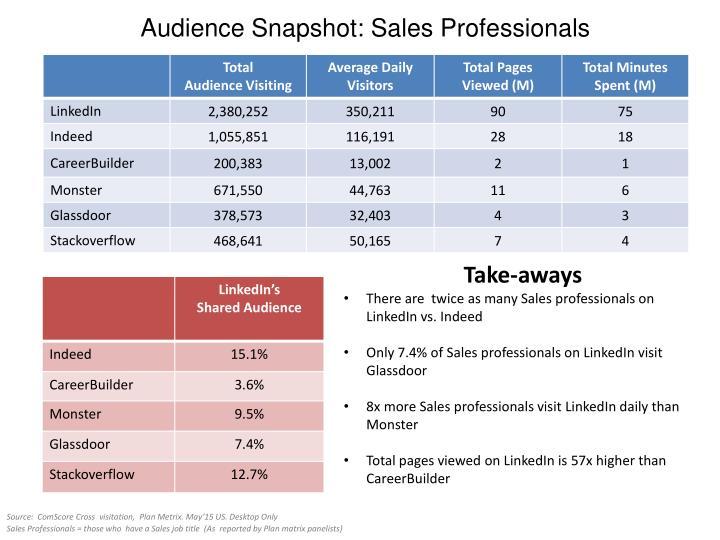 Audience Snapshot: Sales Professionals