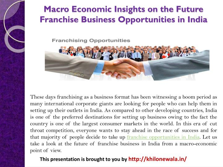 economic opportunities in india Find out about current and projected economic growth in india and compare the data with other developing countries in south asia.